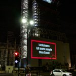 Image for the Tweet beginning: This was projected onto Big