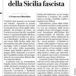 Image for the Tweet beginning: Nel cuore della Sicilia fascista,