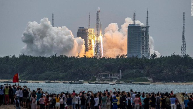Long March 5B: China rocket debris likely plunged into the Indian Ocean near the Maldives, says Chinas space agency Photo