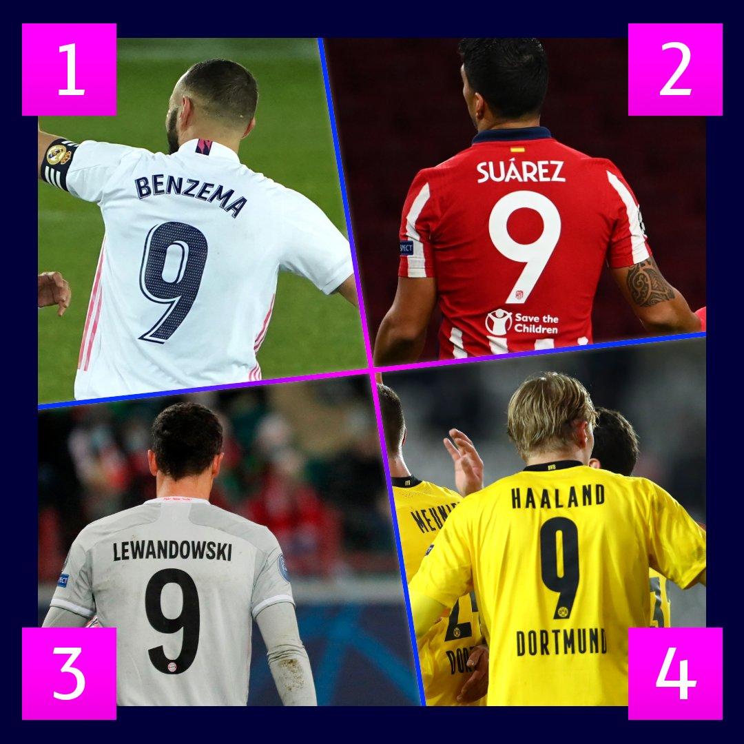 📆 ¡Hoy es día 9⃣, un número sinónimo de gol! ⚽  ¿A cuál de estos nueves ficharías para tu club? 🤔  #UCL https://t.co/ZQhHJYKM5J