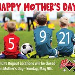Happy Mother's Day from your friends at DJ's Dugout! All DJ's locations will be closed today so our team members can spend a little more time with Mom. THANK YOU Moms for all you do! 💖💖💖
