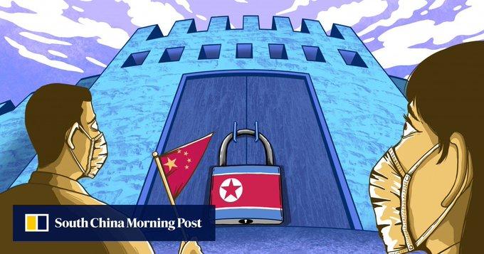 China's gateway to North Korea feels chill of Covid-19 border closure Photo