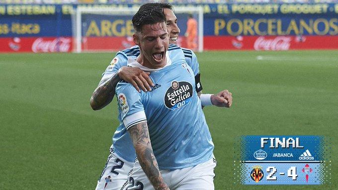 FINAL 🏁🔥 Gran vitoria fronte ao . SEGUIMOS!VIL 2-4 CEL#VillarrealCelta