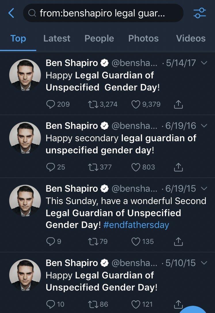 RT @BettyBowers: @benshapiro Happy Ben Shapiro Telling the Same Tired Joke Every Year Day! https://t.co/1bgfdKhEE7