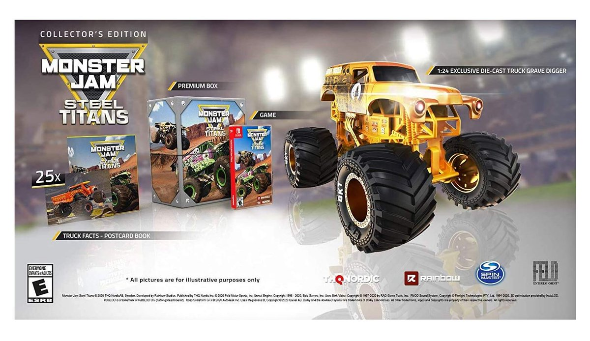 Monster Jam Steel Titans Collector's Edition (S) $34.99 via Amazon (Prime Eligible). 2