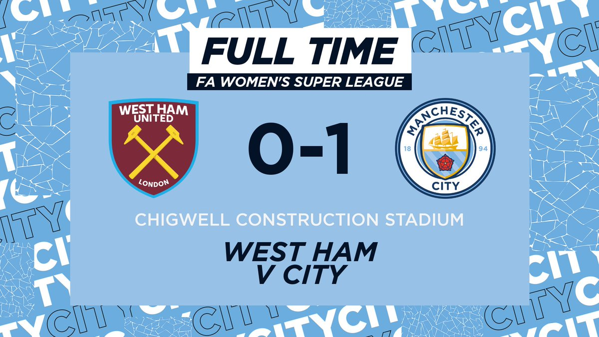 FULL TIME | A goal from @ellsbells89 ensures our victory against the Hammers! 🙌  We may not have clinched the title this time but we have proven we fight 'til the end and have a lot to be proud of! 💙  ⚒ 0-1 ⚫️ #ManCity | https://t.co/HkTzfLv0HJ https://t.co/DpqX9KXQV3