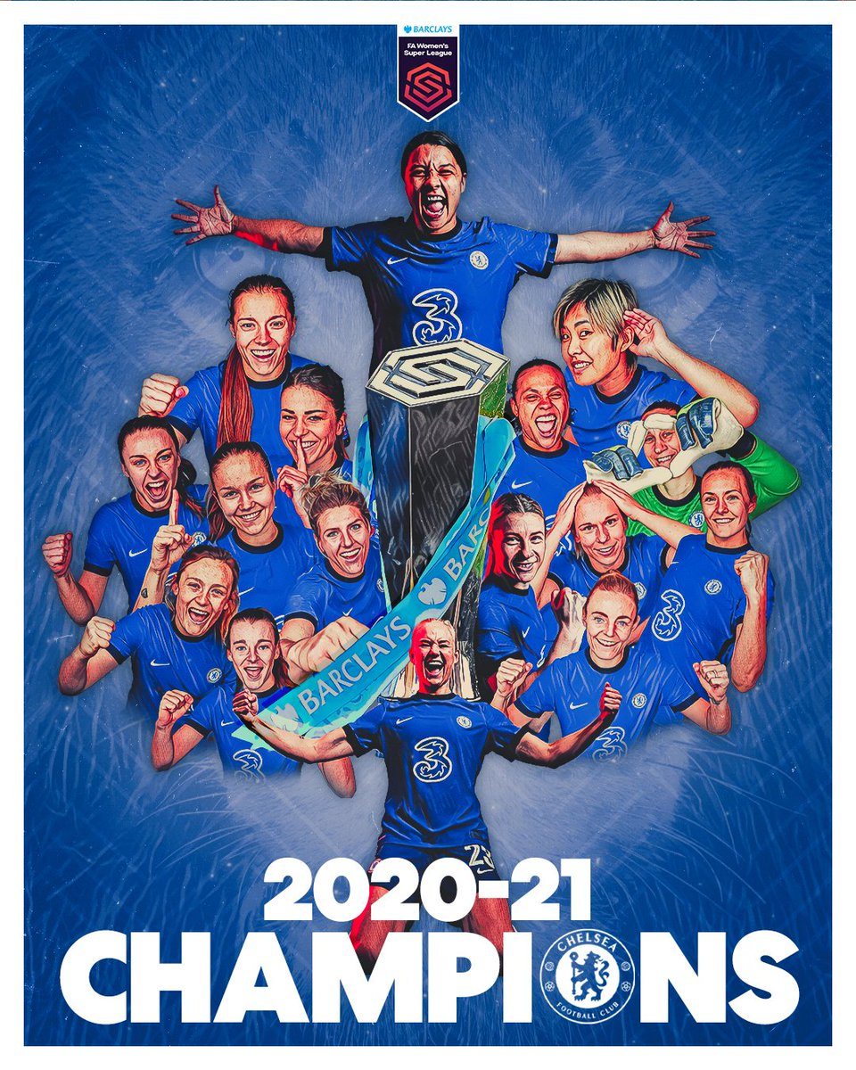 2020-21 #BarclaysFAWSL CHAMPIONS! 🏆  @ChelseaFCW 👏 https://t.co/20T9kDLWAt