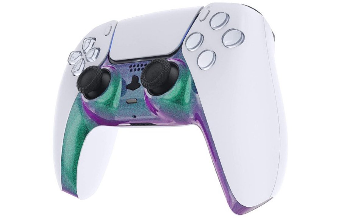 Chameleon Green & Purple Faceplate for DualSense PS5 $14.99  Amazon USA