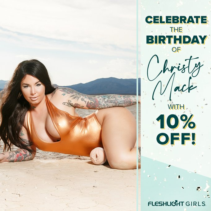Help us wish @ChristyMack the happiest of birthdays! 🥳 Celebrate her birthday ALL MONTH with 10% off