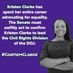 Image for the Tweet beginning: 📌 Kristen Clarke is a