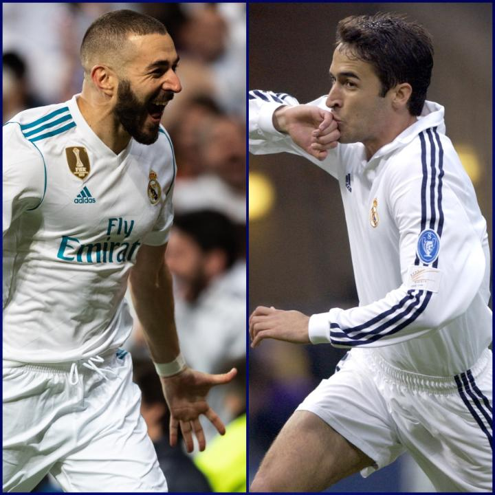 🤩 Dos 𝒍𝒆𝒚𝒆𝒏𝒅𝒂𝒔 𝒃𝒍𝒂𝒏𝒄𝒂𝒔 que comparten cifra de goles marcados en Champions: 7⃣1⃣ ⚽  ¿Con cuál te quedas? 🤔  #UCL | @realmadrid https://t.co/MXY5ybUTdQ