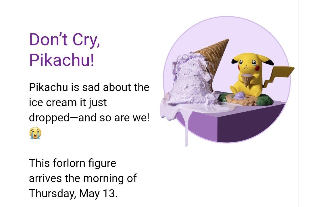 La próxima figura de Pikachu Moods saldrá a la venta en el Centro Pokémon online de EEUU el próximo 13 de mayo. https://t.co/r9oQynxlWM