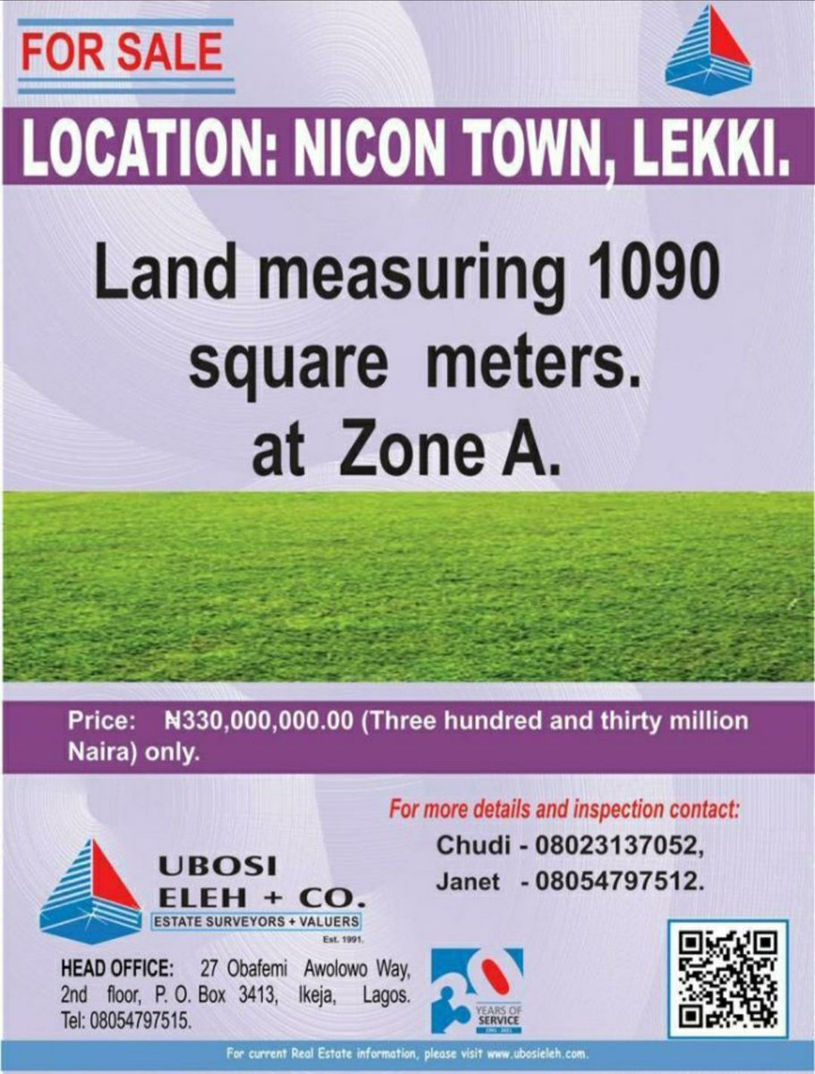 For Sale!  #PropertyAlert #landforsale #RealEstate #Lekki https://t.co/t8ted9rDY2