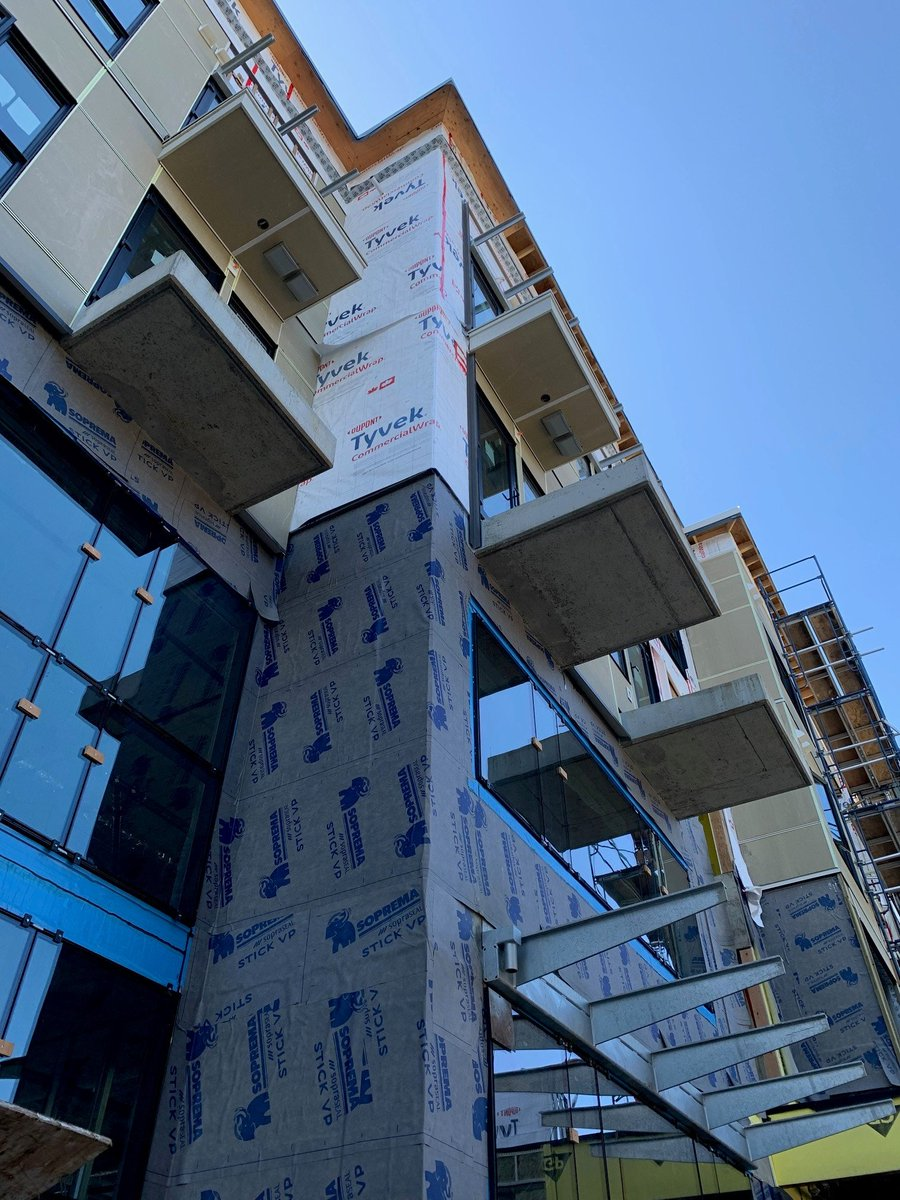 test Twitter Media - Things are moving along at our St. Andrews project in Port Moody! The glass and louvers are being installed and the townhouse exterior painting, and apartments/office cladding, are nearly complete and ready for brick veneer. https://t.co/Z7jVjxSgPp