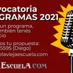 Image for the Tweet beginning: #ViejaEscuelaRadio #Convocatoria Si tenes un programa