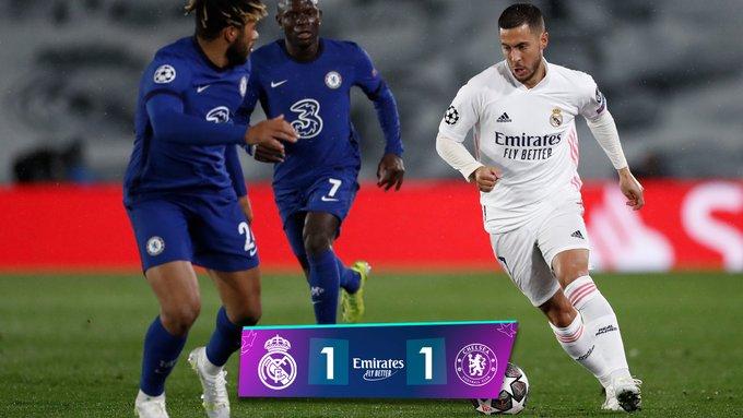 Skor akhir Real Madrid 1-1 Chelsea