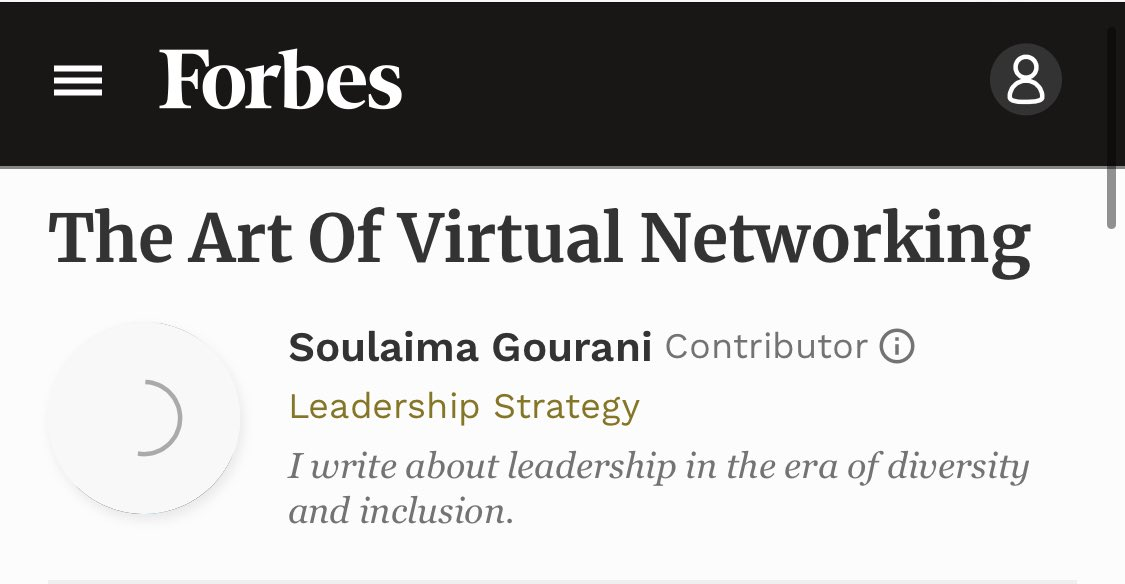 Such an important article during this time, @SoulaimaGourani! #COVID19 #VirtualNetworking #Leadership