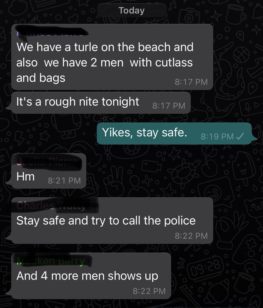 Just a few Leatherbacks left in Dominica, never a good sign when people show up with machetes and bags at night, when a turtle is trying to nest. https://t.co/7xcgn0LAdl