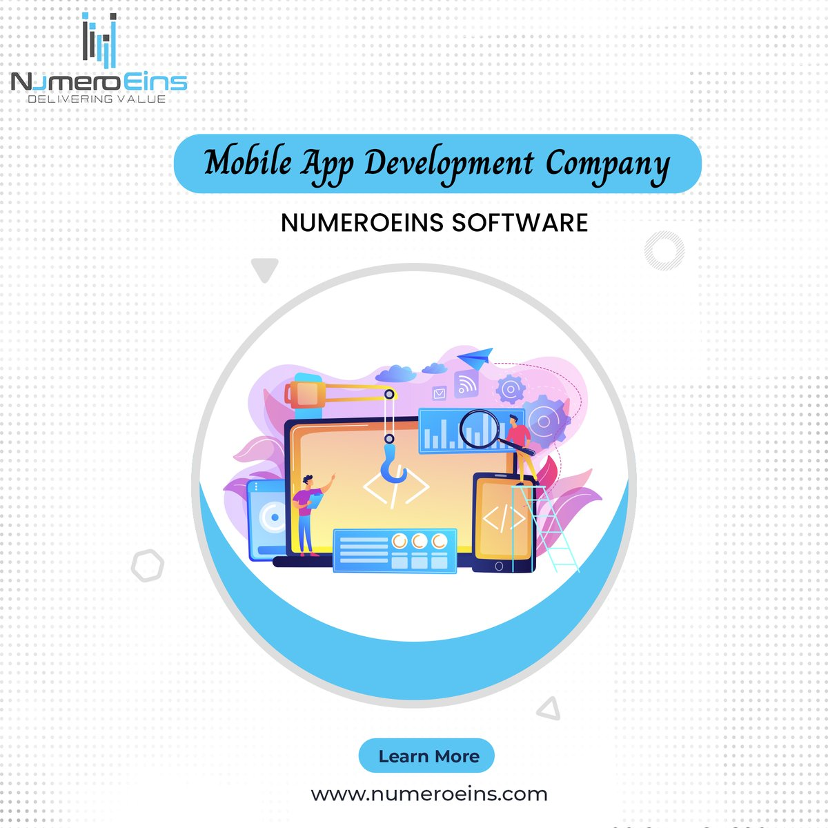 Increase your business conversions and visibility with a mobile app developed by Numeroeins - A Top-Rated mobile app development company, offering custom solutions of react native, flutter#mobileapp #appDevelopment #ios #appdevelopment #numeroeins