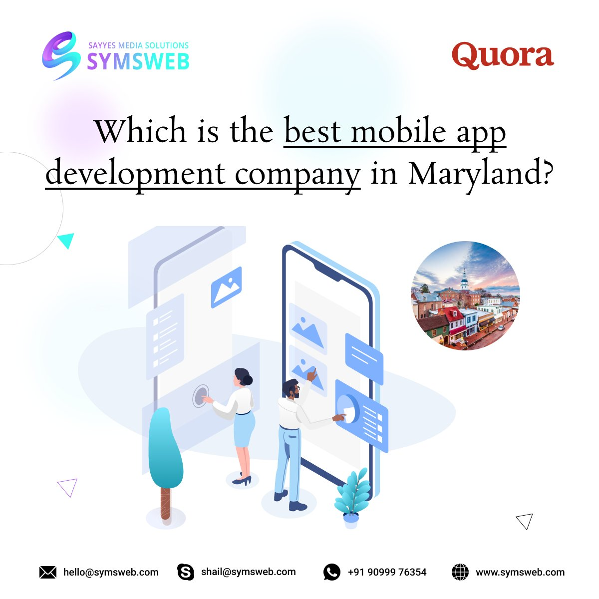 Hire #SYMSWEB #mobileapp developers in #maryland and get the best #iOS and #android apps for your business.