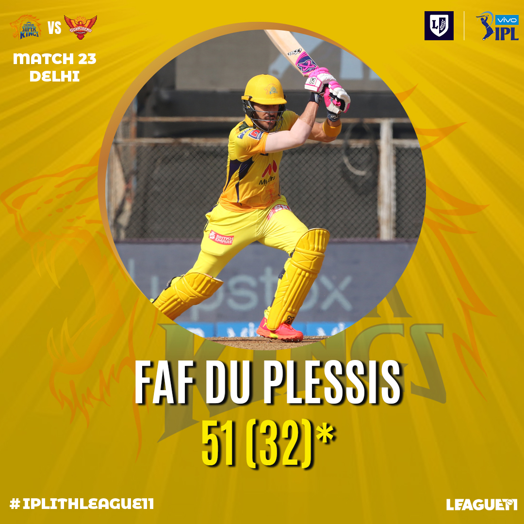 Faf du Plessis played a very responsible inning for CSK