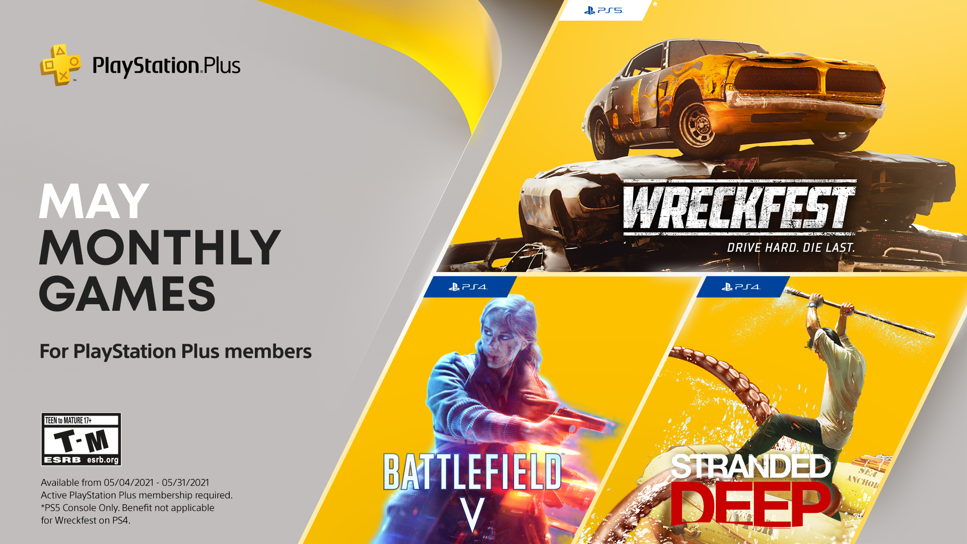 PS Plus Free Games May 2021