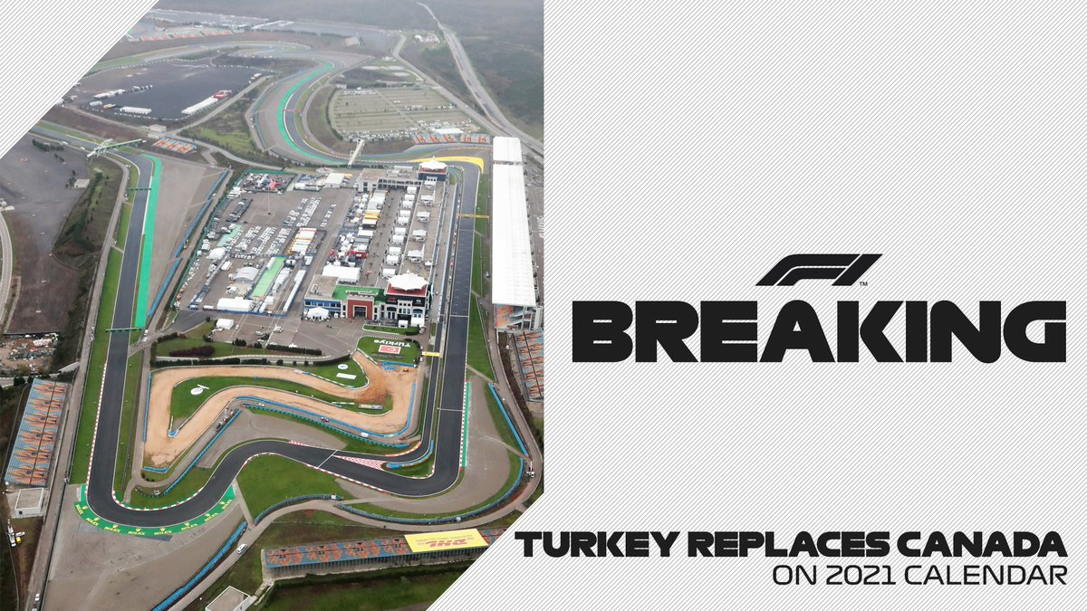 Formula 1 Calendar 2022.Formula 1 On Twitter Breaking Turkey Joins 2021 Calendar In Place Of Canada On June 11 13 We Are Looking Forward To The Return Of The Canadian Grand Prix In 2022 Which Has