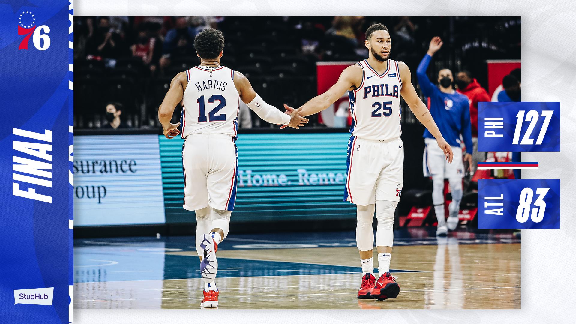 NBA – I Philadelphia 76ers travolgono gli Hawks di Gallinari, 44 punti di scarto