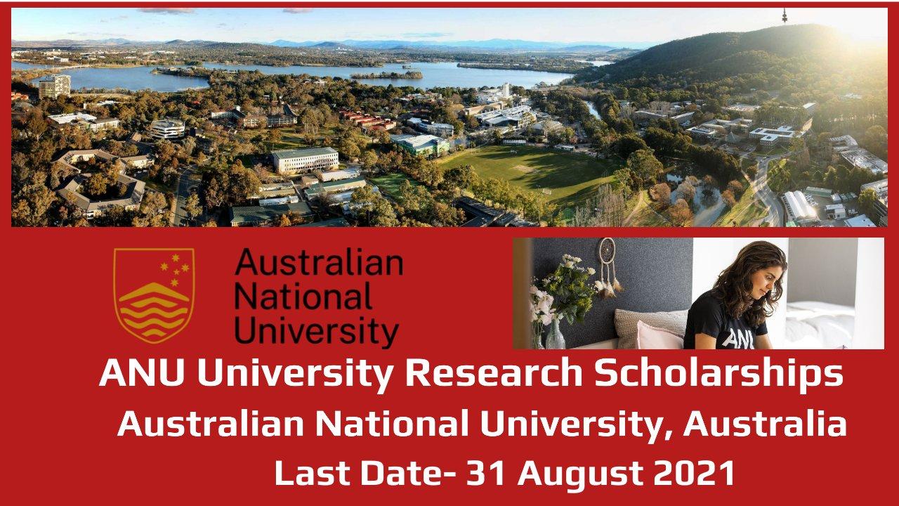 Research Scholarship by  Australian National University, Australia