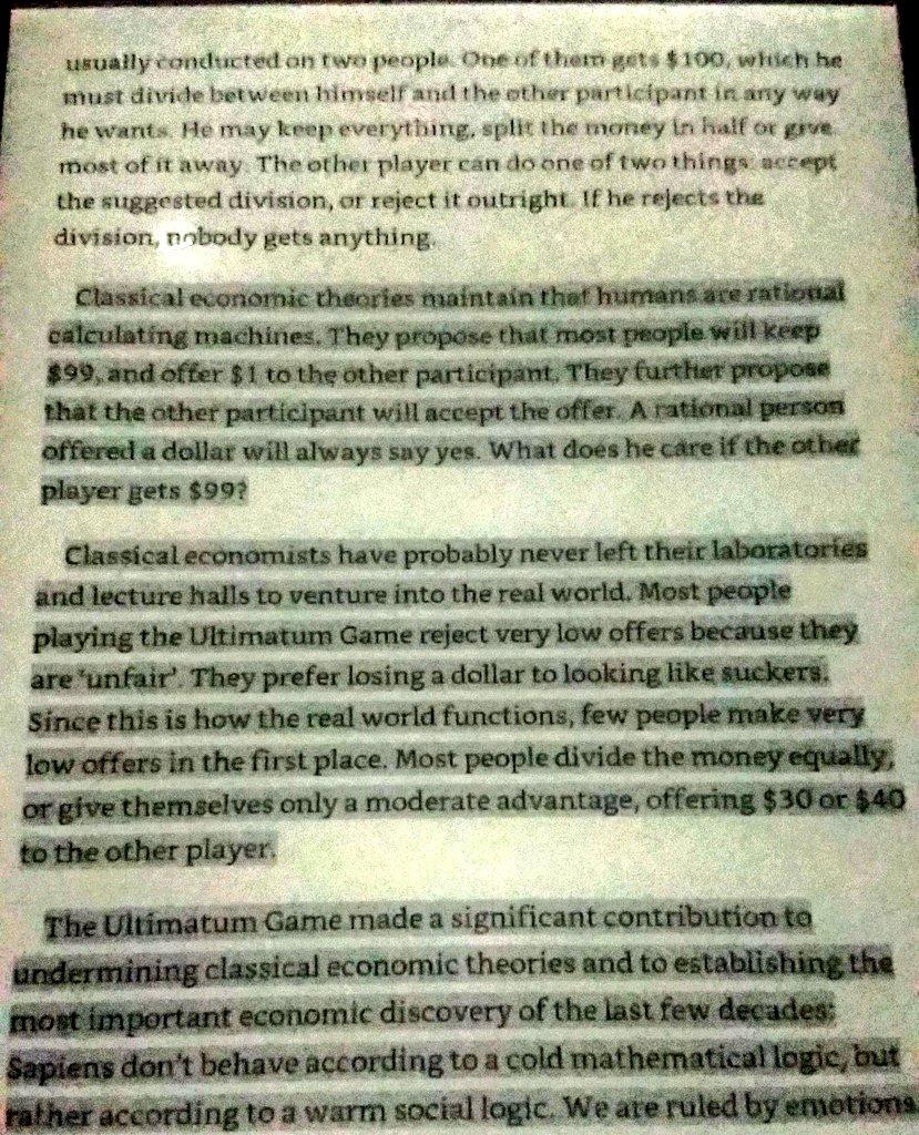 #BehaviouralEconomics #UltimatumGame #RichardThaler #TheBigShort https://t.co/v593v0Ob2L