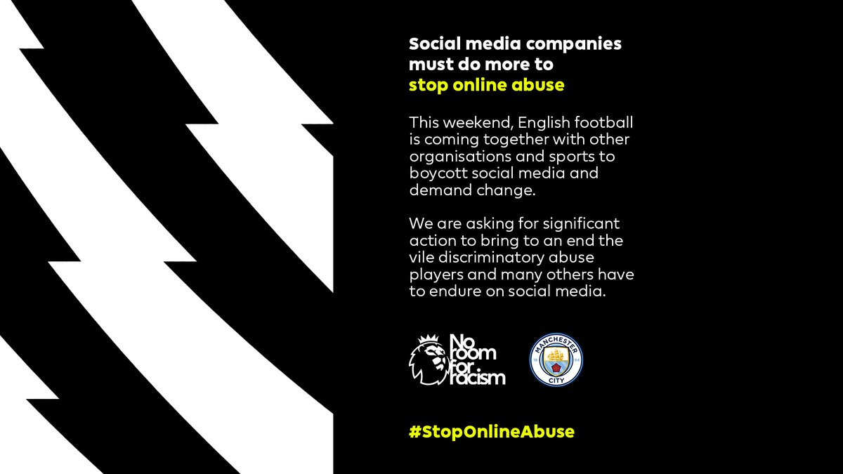 Social media companies must do more to #StopOnlineAbuse. Join us and switch off too, as we collectively demand change.  #NoRoomForRacism https://t.co/8LCyK1zLnS
