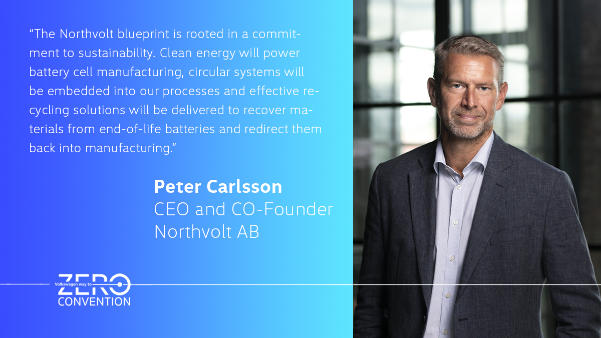 RT @volkswagen: 🌏 One of our exciting speakers at our #WayToZeroConvention: Peter Carlsson, CEO of @Northvolt. https://t.co/ykjGJIZHuO