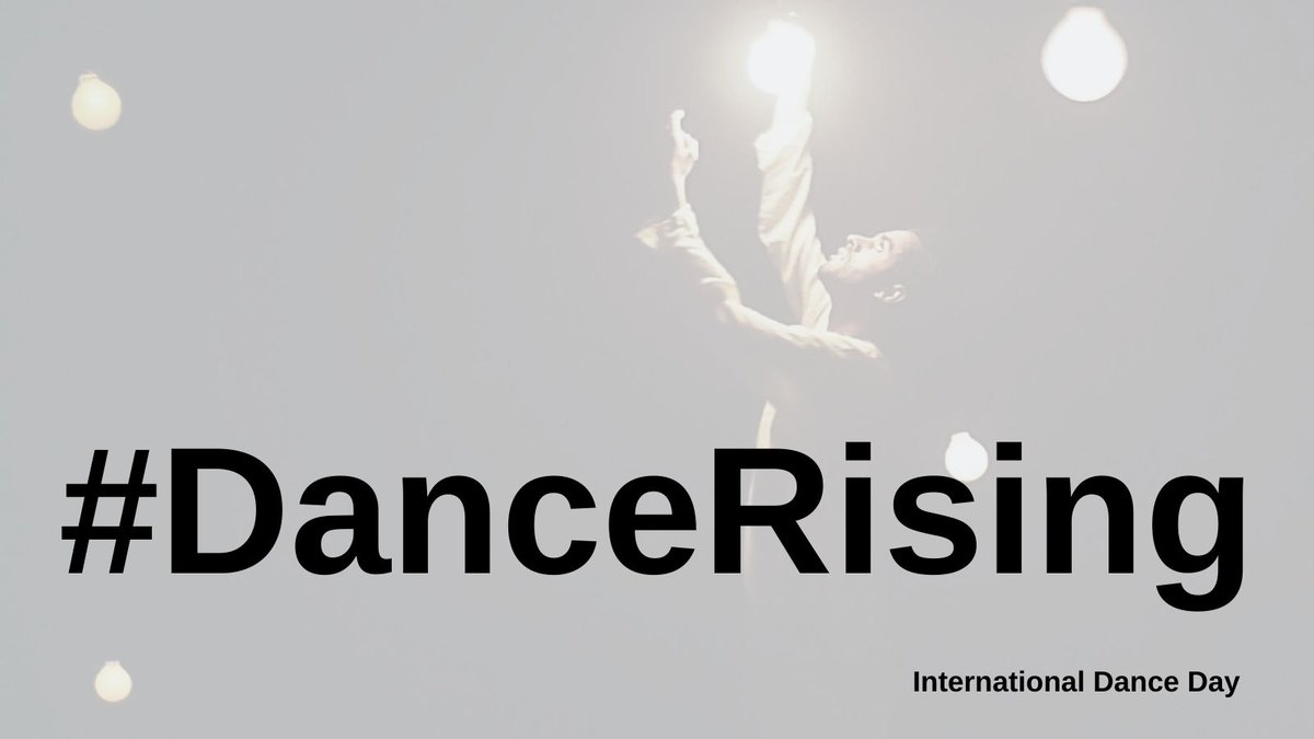 It's International Dance Day! #IDD2021  Celebrate with us today by sharing your stories about rising up for dance - we can't wait to hear all the amazing things you've done! #DanceRising  Image by Pippa Dodds of Aakash's first solo performance, #Rising, on stage again this year