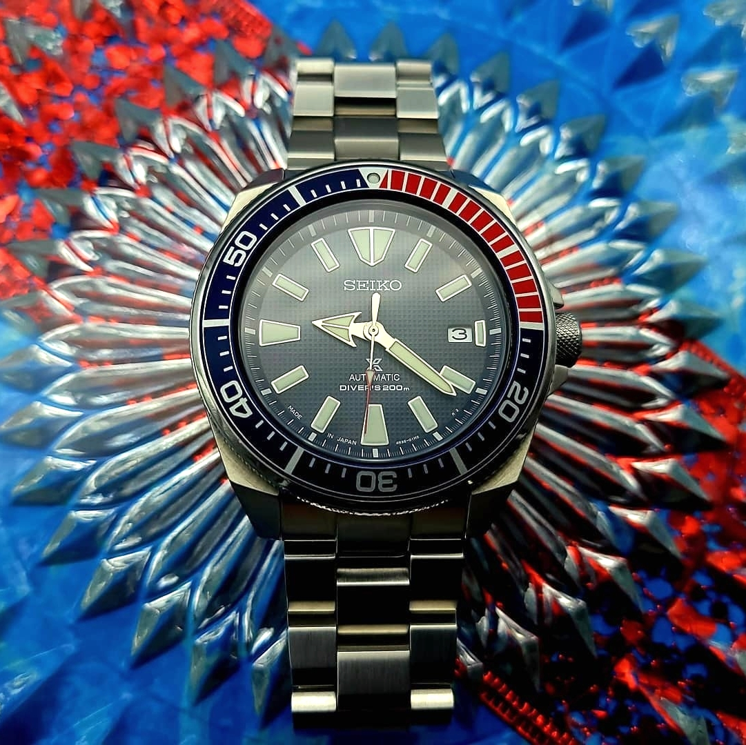 "#📷 @timedilationwatches  👈 Thanks! #Repost #strapcodefeaturing⁠ https://t.co/qH9SCvKlQl @strapcode #strapcodewatchbands ⁠ Hello #watchfam ❤️💙 SEIKO Prospex SRPB53J1 ""Pepsi Samurai"" on Hexad Bracelet from strapcode . megadeskcreations . #seikosamurai #SRPB53 https://t.co/N82140ijww"