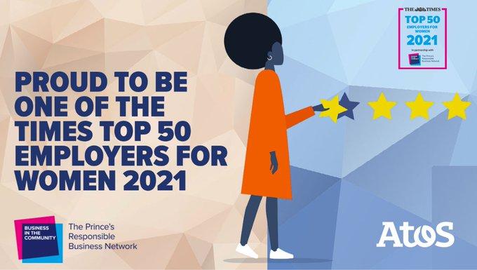 我们非常自豪地被认为是女性的#imeestop50雇主......