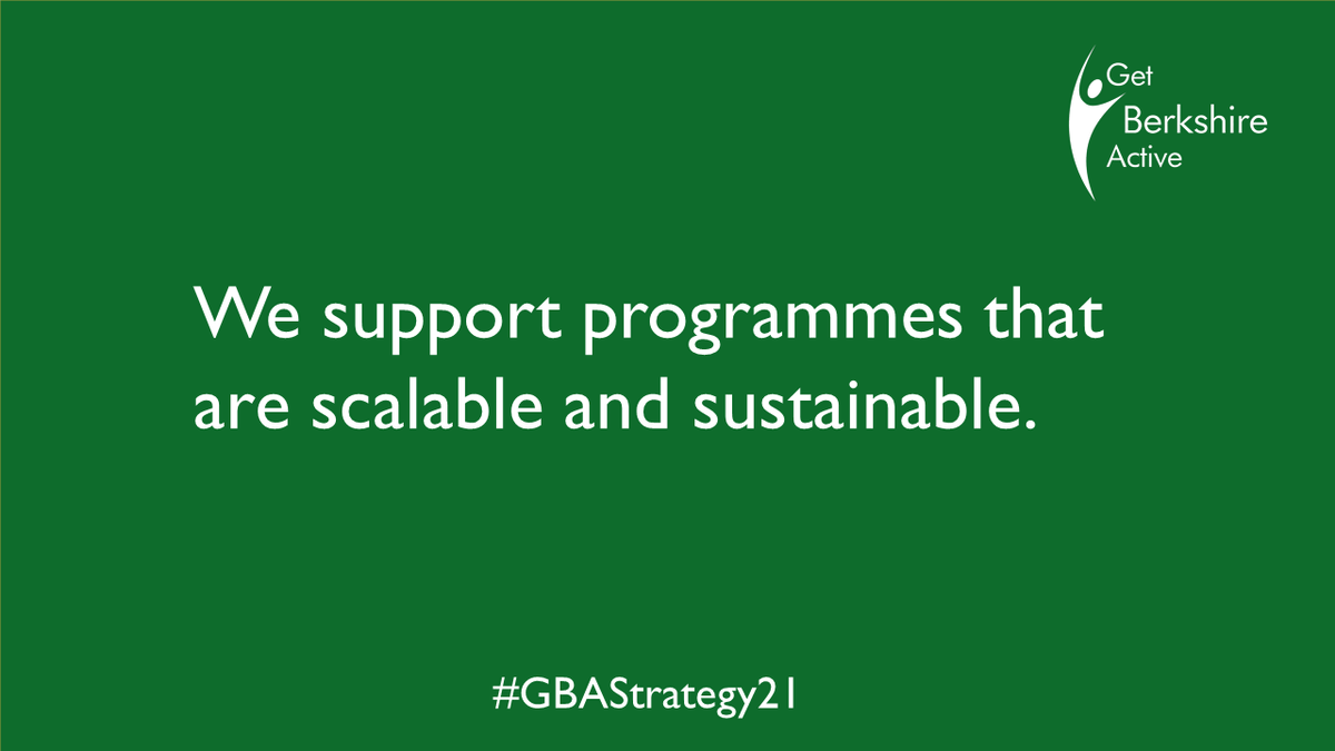 Whether we lead or co-lead we want to create sustainable, scalable, individual led solutions to encourage people to move more. Learn about our programmes and get in touch for a discussion to help #GetBerkshireMoving. #GBAStrategy21 👉https://t.co/coTJJiSW2f