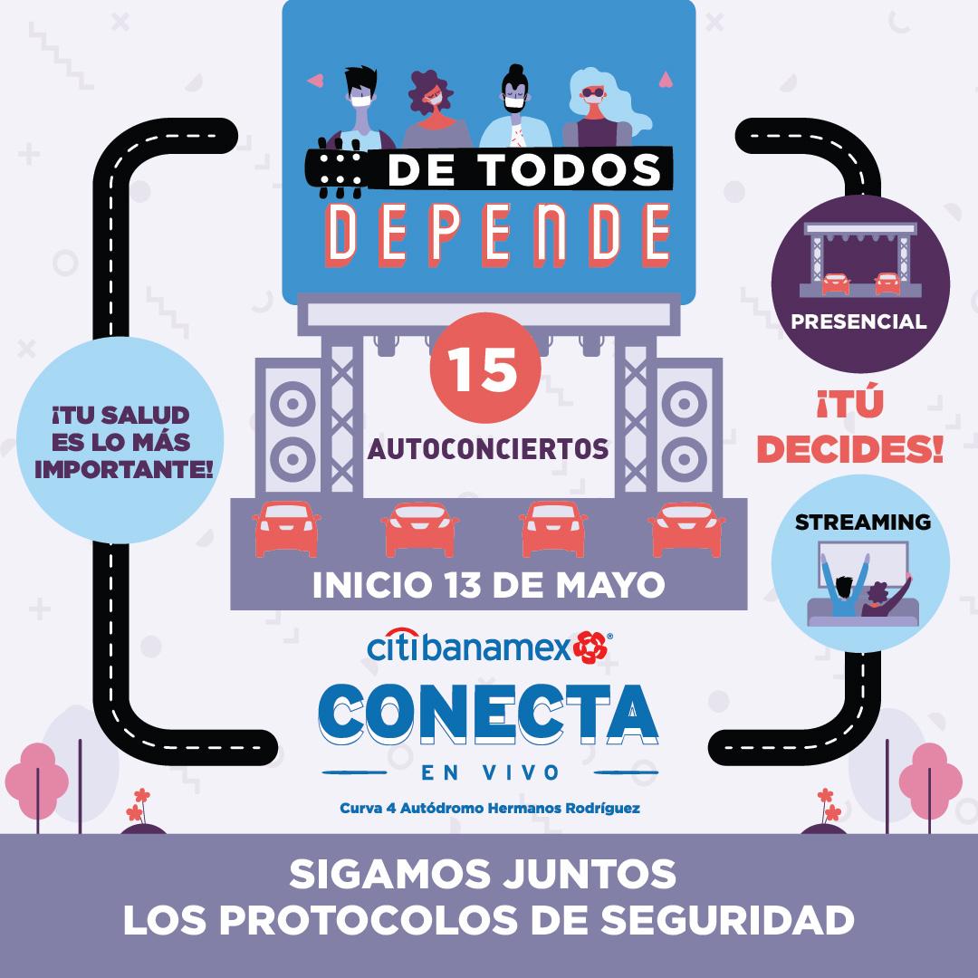 """Ocesa Total on Twitter: """"¡Esperamos verlos a partir del 13 de mayo en el Foro Citibanamex Conecta En Vivo ubicado en la Curva 4 del Autódromo Hermanos Rodríguez o si lo prefieres,"""