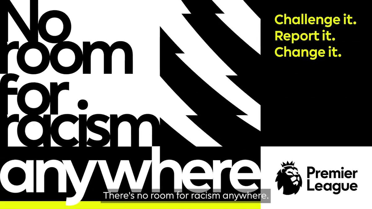 There's #NoRoomForRacism anywhere.  #StopOnlineAbuse https://t.co/5kXhi8dUJY
