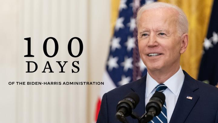 It's official: Today marks 100 days since President Biden took office. Here's a look at his historic accomplishments over the last three months: https://t.co/j4wopoepv9