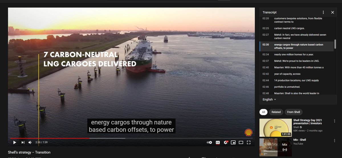 """I really wish I had the time / space to properly get stuck into """"carbon neutral LNG"""" (AND WHY DOES THE FOSSIL FUEL INDUSTRY PLURALISE CARGO)"""