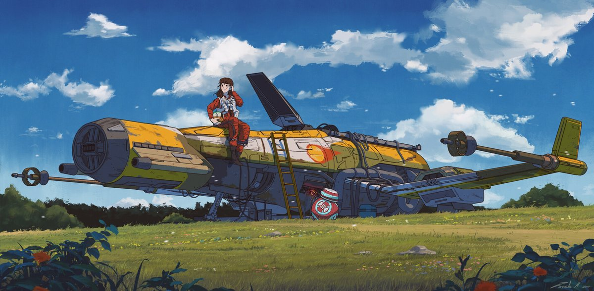 Star Wars illustrations inspired by Ghibli movie settings, by concept artist Stephen Zavala https://t.co/JHLEYk1rEi