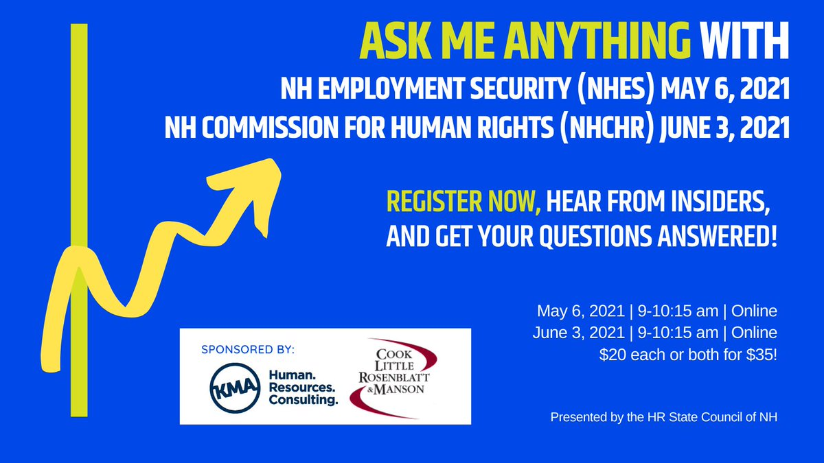 Want to learn how to post job openings through NH Employment Security? Or find job training resources for your business? Or best practices on responding to unemployment claims? You don't want to miss this conversation!