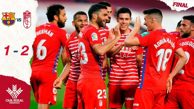 Skor akhir Barcelona 1-2 Granada