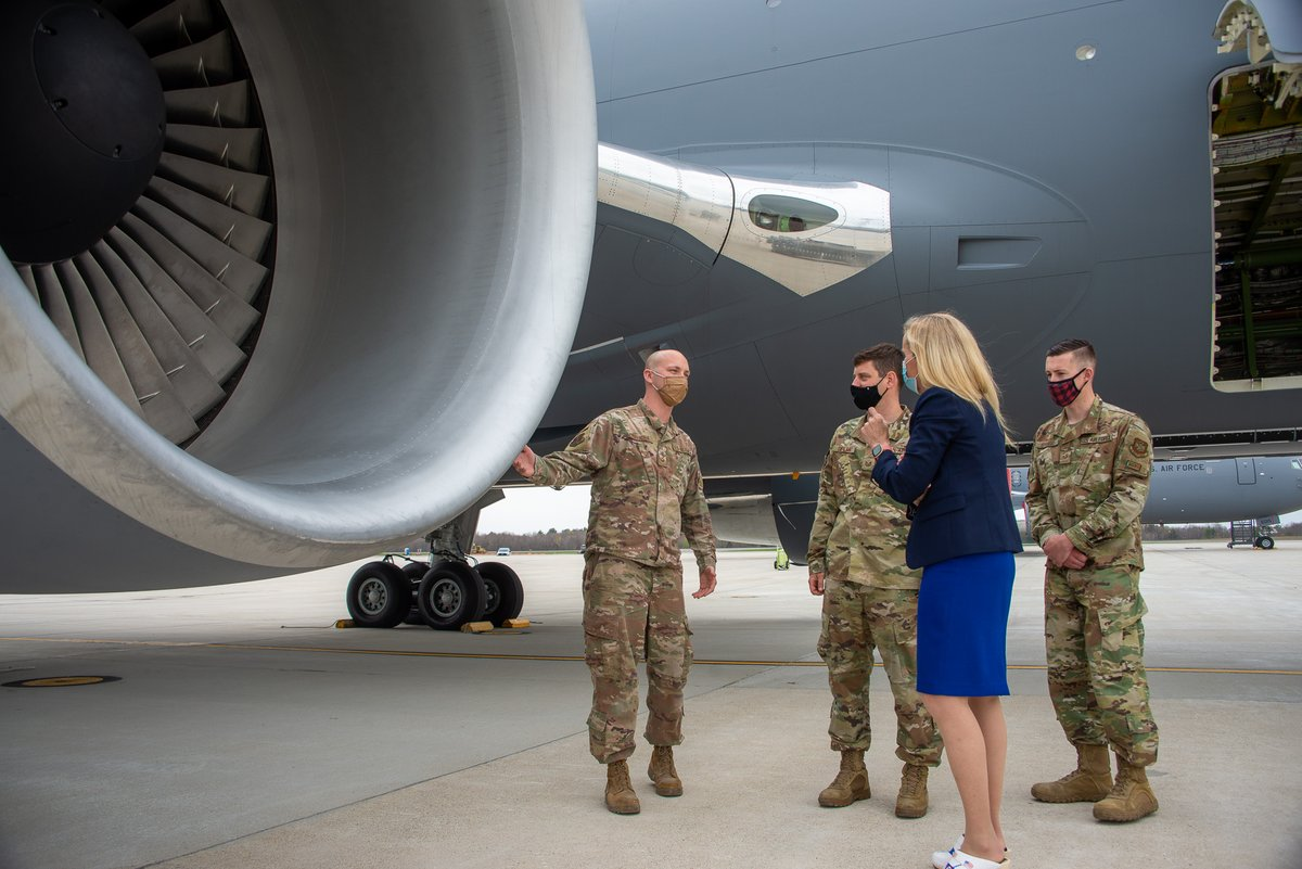 Honored to participate in a site visit w/New Hampshire's  finest @157ARW - the first @NationalGuard to receive KC-46a refueling tanker.      @NHNationalGuard  Anything & everything for our troops