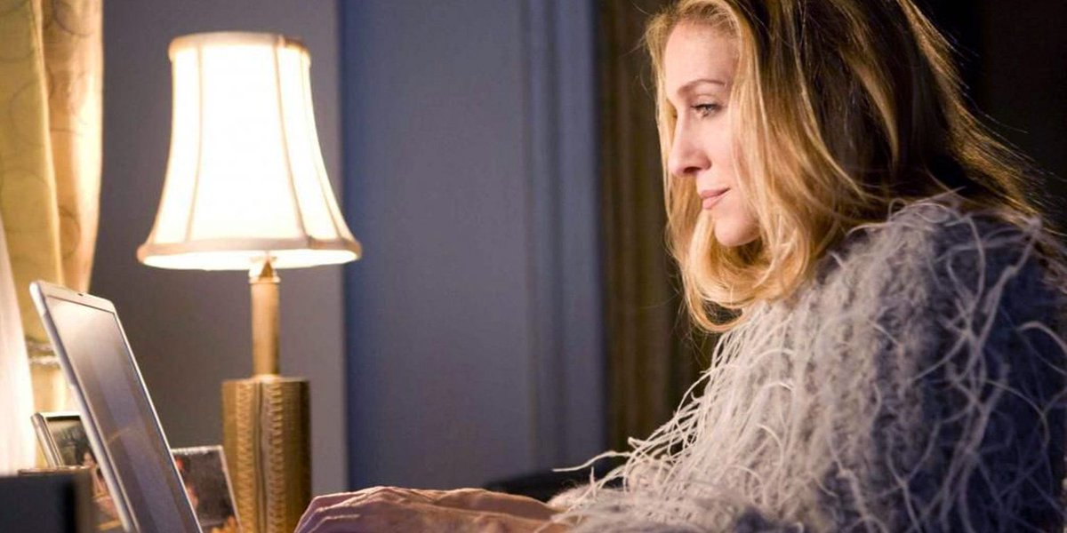 "Carrie Bradshaw invented the essay. It's from the French ""essayer"" which means ""I couldn't help but wonder."" https://t.co/waqUuLCB5m"