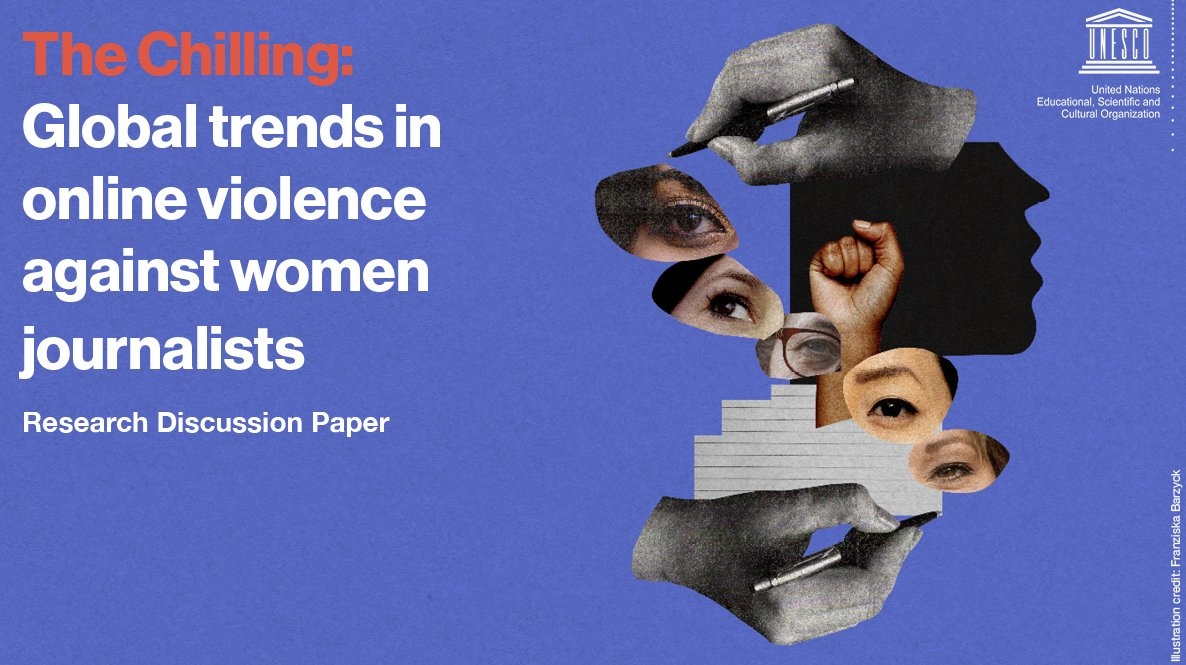 🔈 Just published: A new report from our @UNESCO #onlineviolence project which🚩the increased risks facing women journalists @ the intersection of misogyny, racism, religious bigotry, homophobia, #disinfo & political extremism #JournalistsToo #WPFD2021  📖 https://t.co/2ClnsMKw4L https://t.co/v9yVpP7Pld