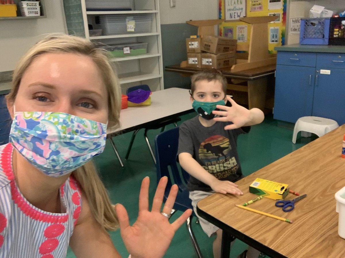 "Such a fun ""first day"" together! This all virtual K class is now concurrent and it was so sweet to ""meet"" these kiddos in person today! <a target='_blank' href='http://search.twitter.com/search?q=tuckahoerocks'><a target='_blank' href='https://twitter.com/hashtag/tuckahoerocks?src=hash'>#tuckahoerocks</a></a> <a target='_blank' href='http://twitter.com/TuckPrinc'>@TuckPrinc</a> <a target='_blank' href='https://t.co/SYpObx0WJF'>https://t.co/SYpObx0WJF</a>"