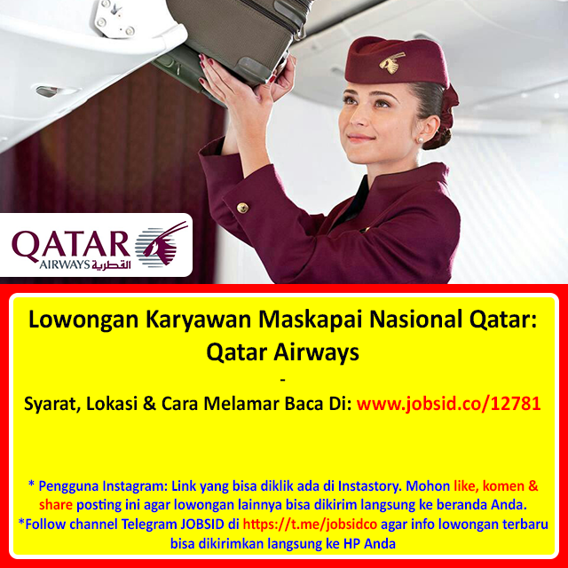 Info Lowongan Kerja On Twitter Lowongan Karyawan Maskapai Nasional Qatar Qatar Airways Syarat Lokasi Cara Melamar Baca Di Https T Co Laydtr1gmc Https T Co Z33gulpel8