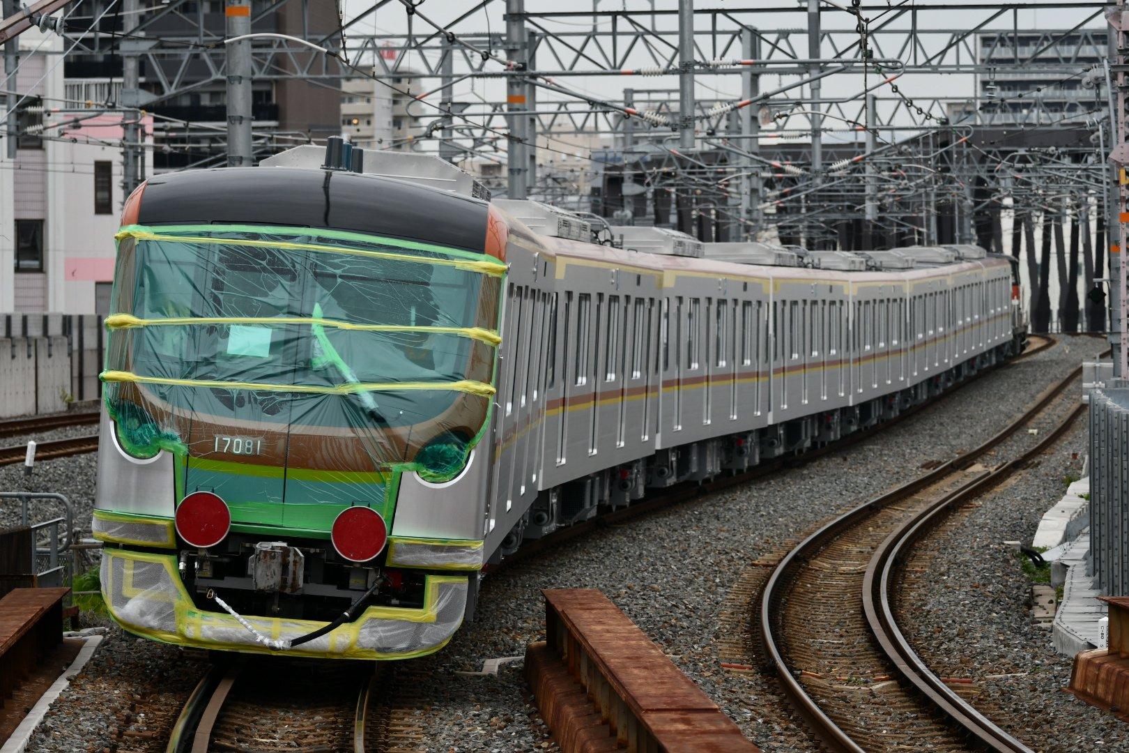 【VVVFが初の日立製に】東京メトロ17000系に8両編成が登場 近畿車輛製80番台として仕様変更が