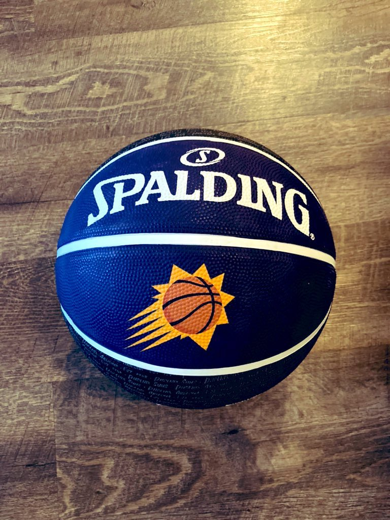 Tonight we are comin for the # 1 seed😤  💜SUNS FAM GIVEAWAY!🧡  I've got one Phoenix @Suns Spalding basketball ready to go! You know what to do 💜🧡  I'll pick a winner Saturday 5/1 !   GO SUNS BABIE!! https://t.co/0VlgewL9o2